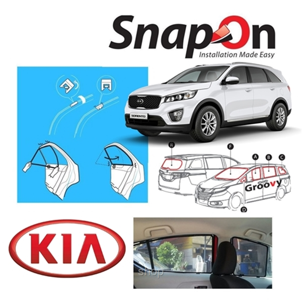 Groovy KIA SUV SNAP-ON 4.0 (MAGNET) Car Sunshades-0