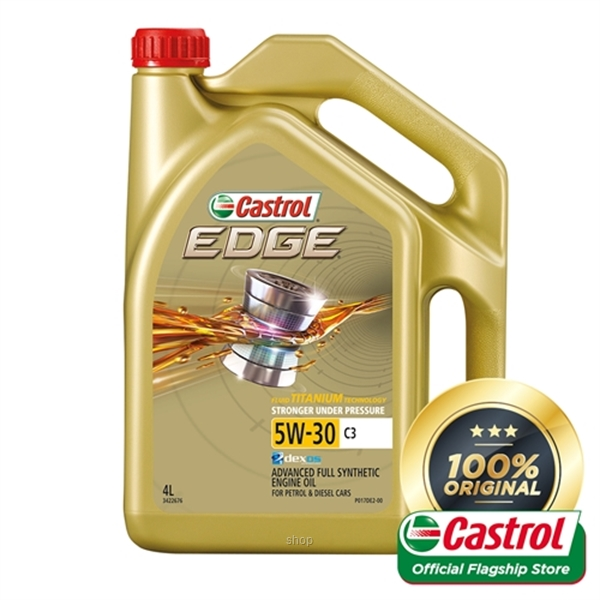 Castrol EDGE 5W-30 C3 Engine Oil for Petrol and Diesel Cars (4L)-0