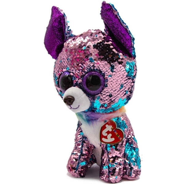 TY Flippables 25cm Yappy Blue / Purple Sequin Chihuahua-0