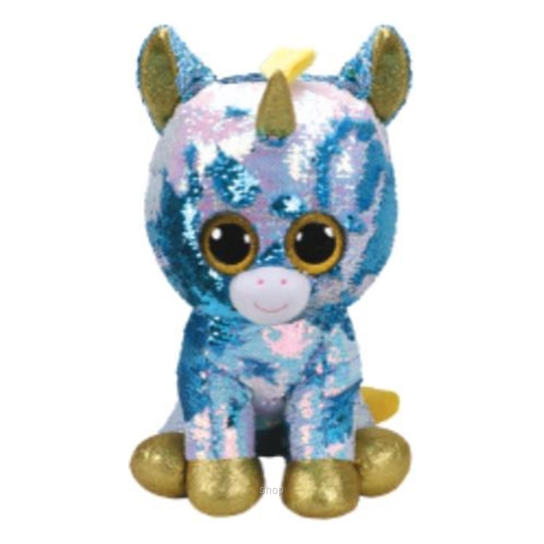 TY Flippables 40cm Dazzle Sequin Blue Unicorn-0