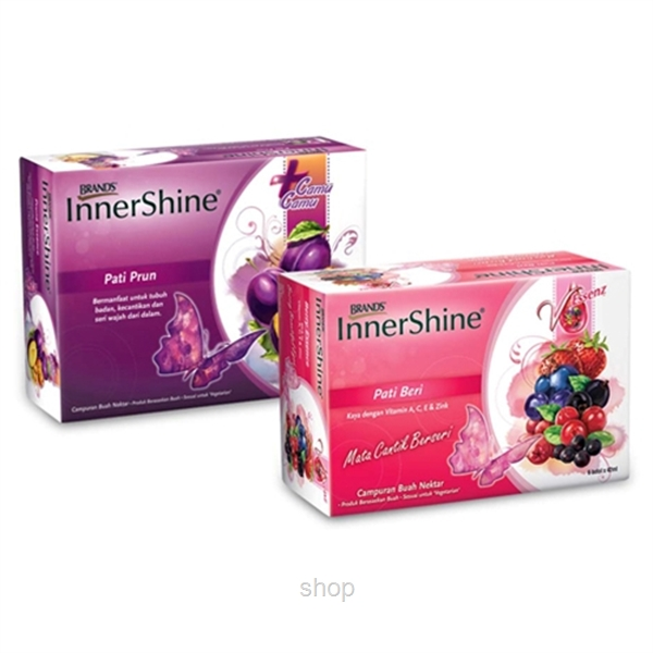 BRAND'S® InnerShine Prune Essence (1 x 12's) + InnerShine Berry (1 x 6's) - 18 Bottles x 42ml-0