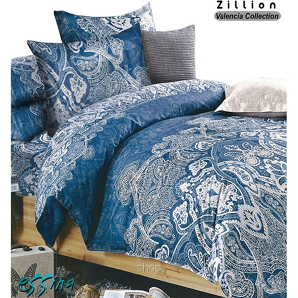 Essina Valencia Zillion 100% Cotton 620TC Fitted Bedsheet Set-0