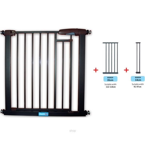 Bumble Bee Auto-Close Magnetic Gate + Extension 35cm + Extension 14cm - BS0024-BS0029-BS0026-0