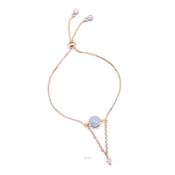 Kelvin Gems La Luna Aquamarine Adjustable Bracelet - Blue-0