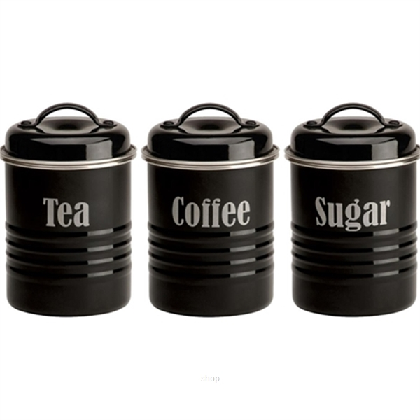 Typhoon Vintage Set of 3 Small Canisters (Black) - TP-1400.582-0
