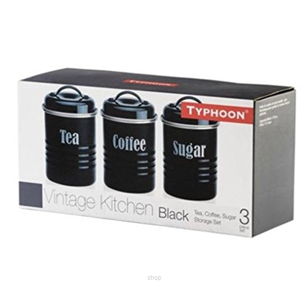 Typhoon Vintage Set of 3 Small Canisters (Black) - TP-1400.582-1