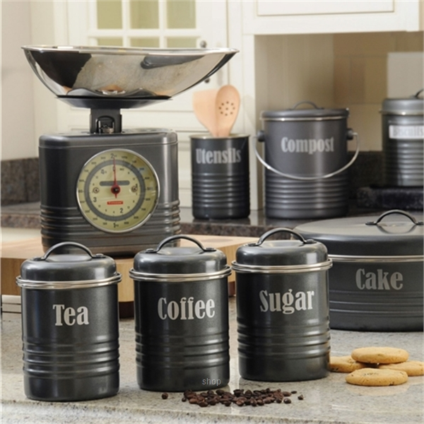 Typhoon Vintage Set of 3 Small Canisters (Black) - TP-1400.582-2