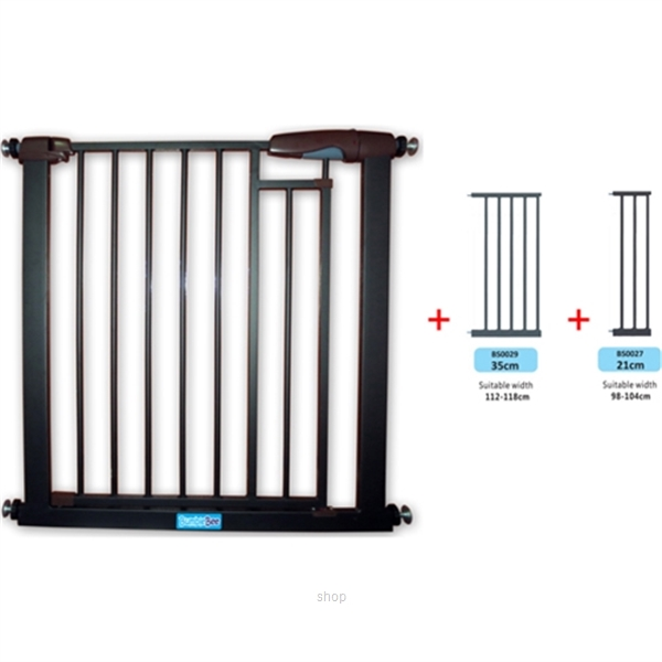 Bumble Bee Auto-Close Magnetic Gate + Extension 35cm + Extension 21cm - BS0024-BS0029-BS0027-0