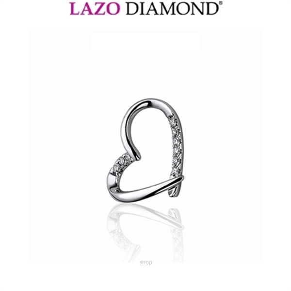 Lazo Diamond 9K White Gold Diamond Pendant - DPC815-1
