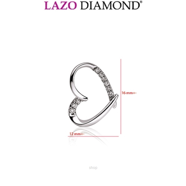 Lazo Diamond 9K White Gold Diamond Pendant - DPC815-2