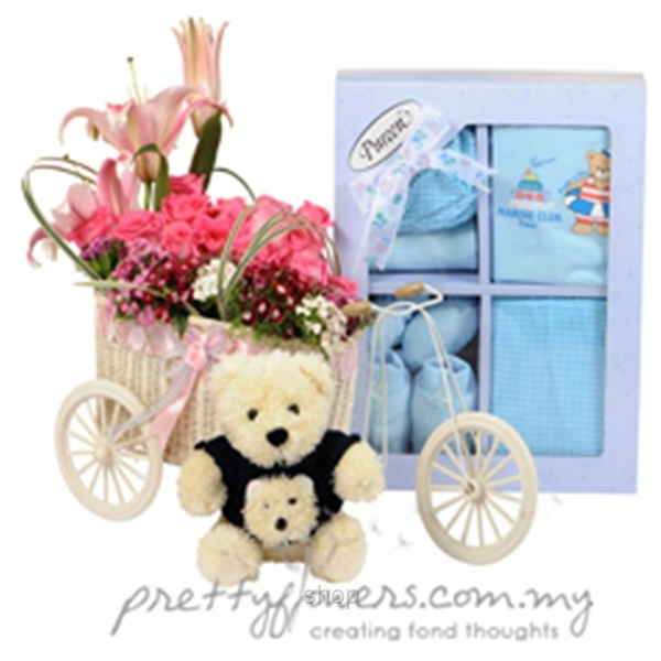 Pretty Flowers Gift Basket - GB009-0