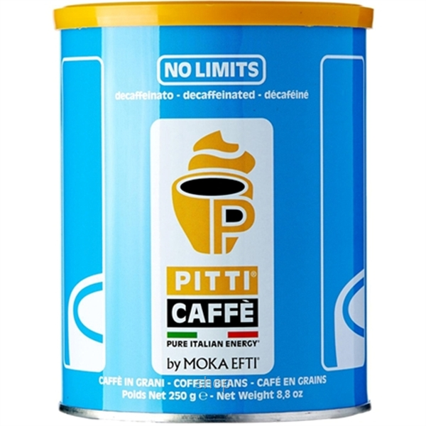 Pitti Caffe No Limits Coffee Bean Decaffeinated (250gm) - 5014-0