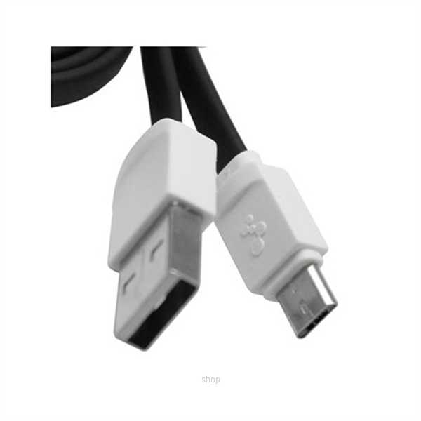 Skyblue Rubbery 2 (Android) Premium Micro USB Data Cable 100cm Black-2