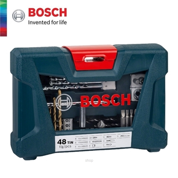 [BUNDLE] Bosch GSB 18V-50 Brushless Impact Drill Driver Solo  +  48pcs V-Line Titanium Set For Drilling & Screwdriver - 06019H5182 + 2607017411-4
