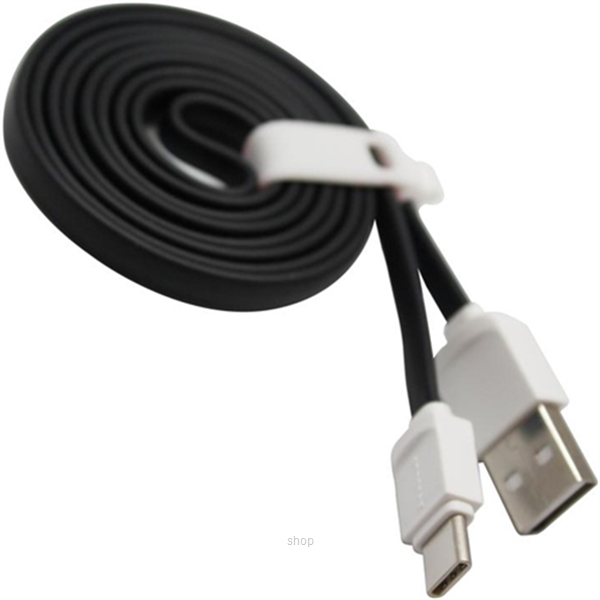 Skyblue Rubbery 2 (Type-C) Premium USB Data Cable 100cm Black-0