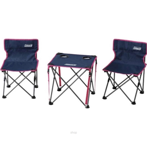 Coleman Table & Chairs Set Steel Navy - 2000011513-0
