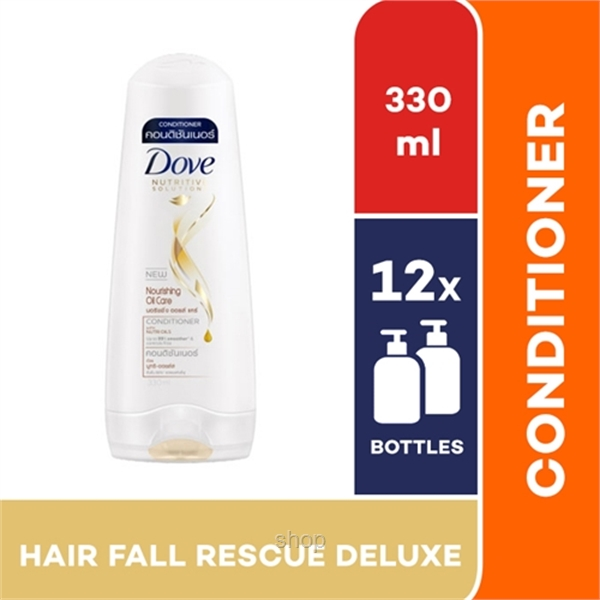 [12 Bottle] Dove Hair Conditioner Hair Fall Rescue Deluxe 330ml - 67631586-0