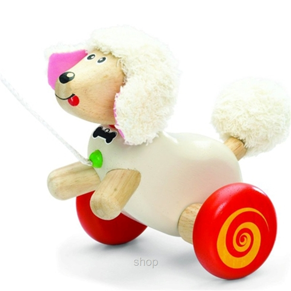 Wonderworld Toys Pull Along Poodle - WW-1136-0