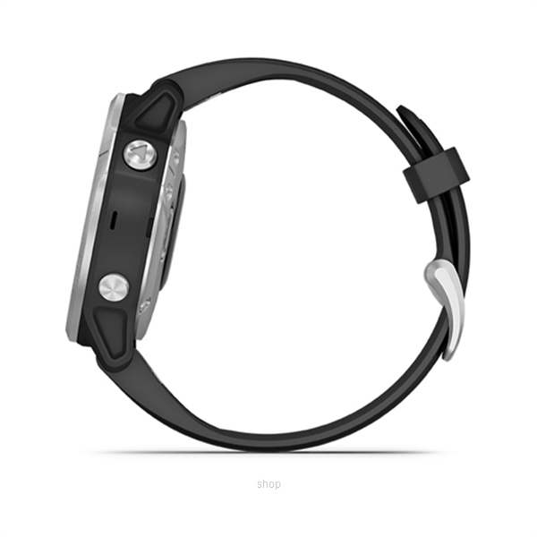 Garmin Fenix 6s Silver with Black Band Running Smartwatch - 010-02159-5F-1