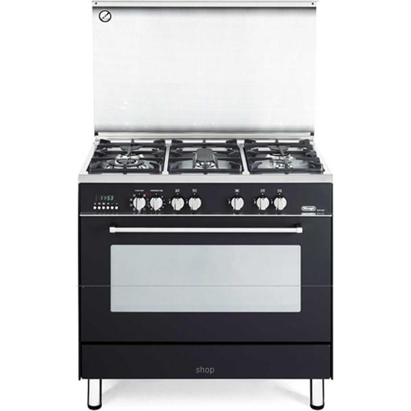 Delonghi Professional Gas Cooker Elegance Series Black - PEMA-9651-0
