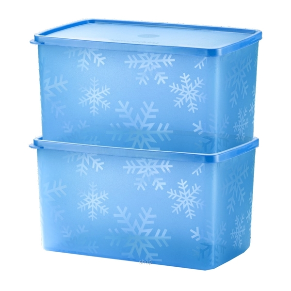 Tupperware Snowflake Double Square Round (2pcs) 2.8L - A2864-0