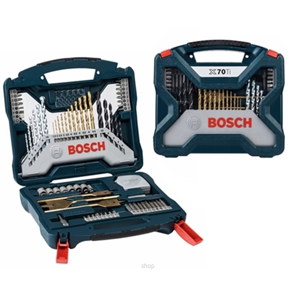 [BUNDLE] Bosch GBH 18V-26 Professional SOLO Cordless Rotary Hammer + 70pcs X-line Titanium Set - 0611909000 + 2607017412-1