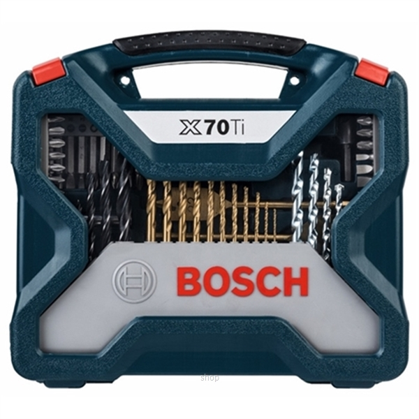 [BUNDLE] Bosch GBH 18V-26 Professional SOLO Cordless Rotary Hammer + 70pcs X-line Titanium Set - 0611909000 + 2607017412-3