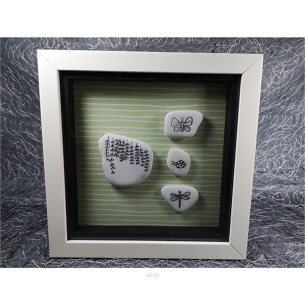 Heart Handy Pebble Doodle Living In Nature - HH-F-0008-0
