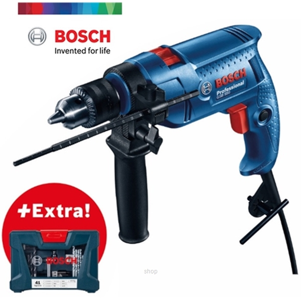 Bosch GSB 550 Professional Impact Drill (with 41pcs Accessories) - 06011A15L9-0