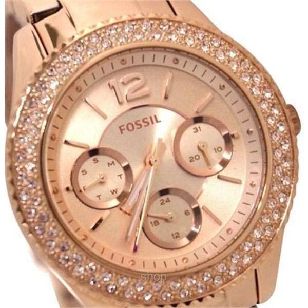 Fossil Women Stella Multifunction Rose-Tone Stainless Steel Watch - ES3590-1