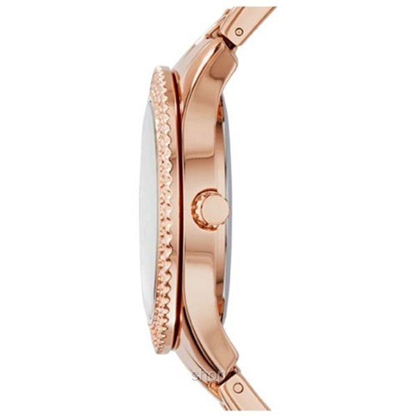 Fossil Women Stella Multifunction Rose-Tone Stainless Steel Watch - ES3590-2