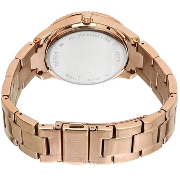 Fossil Women Stella Multifunction Rose-Tone Stainless Steel Watch - ES3590-3