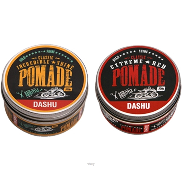 Dashu Classic Pomade Series Incredible Shine Pomade 100g + Classic Extreme Red Pomade 100g-0