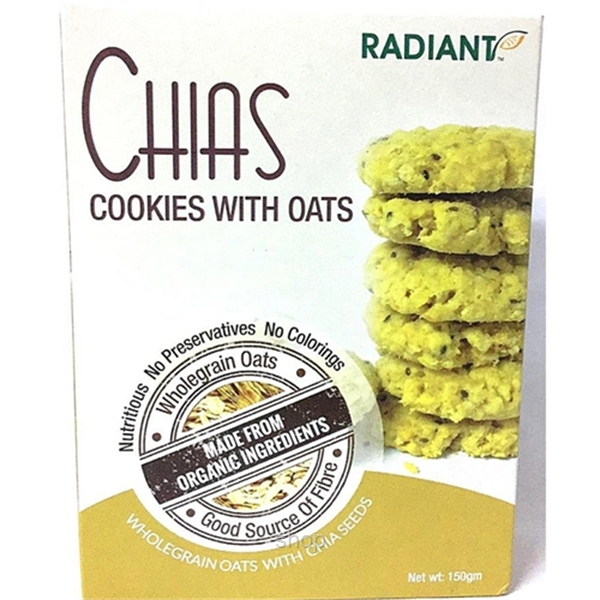 Living Planet Organic Low Fat Milk 1L + Radiant Chias Cookies with Oats 150g-2