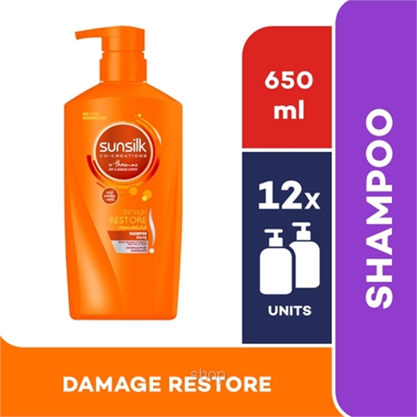 [12 unit] Sunsilk Shampoo Damage Restore 650ml - 67485476-0