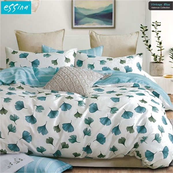 Essina Vintage Blue 100% Cotton 620TC Comforter Set-0