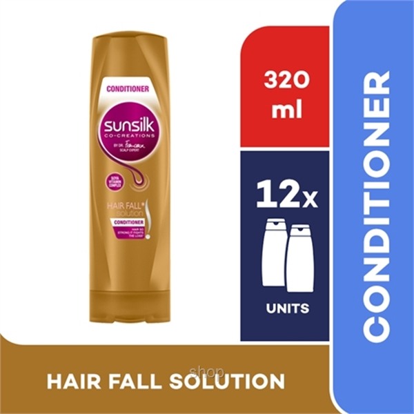 [12 unit] Sunsilk Conditioner Hair Fall Solution 320ml - 67561323-0