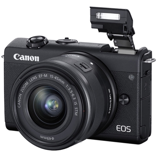 Canon EOS M200 Mirrorless Digital Camera with 15-45mm Lens Complimentary 32GB Memory Card + Canon Camera Bag (Canon Warranty)-1