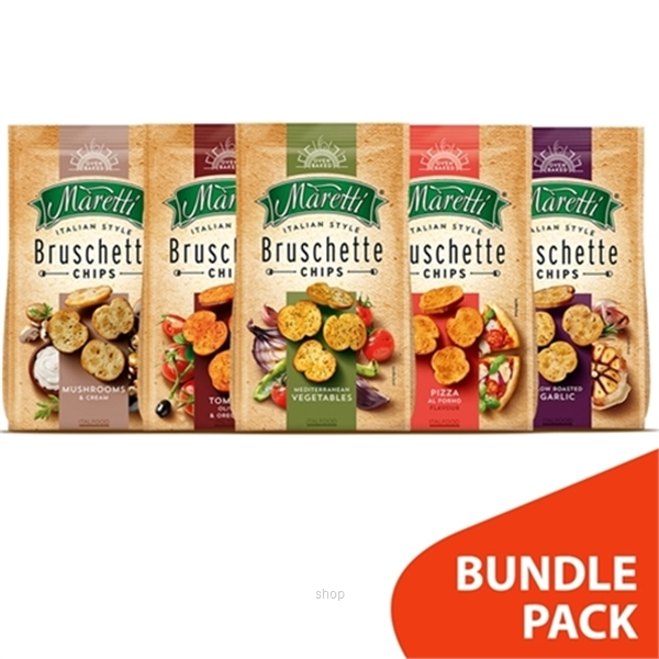 [BUNDLE] Bruschette Maretti Garlic + Vegetables + Tomato + Mushroom + Pizza (10's x 70g)-0