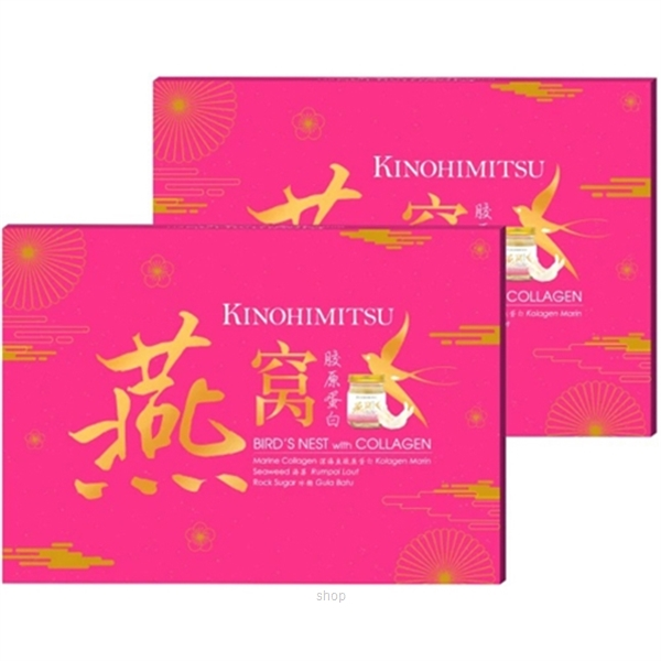 [CNY Bundle Deal] Kinohimitsu Bird's Nest with Collagen 6's x 2 Packs-0