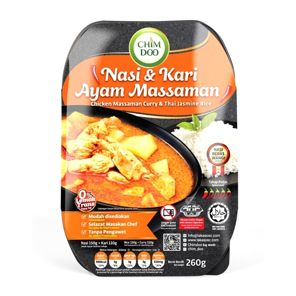 ChimDoo Chicken Massaman Curry and Thai Jasmine Rice 260g-0