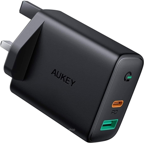 Aukey Focus Duo 30W Power Delivery Dual-Port PD Charger with Dynamic Detect - PA-D1-0
