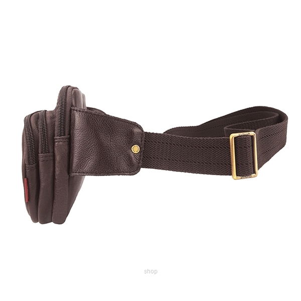 Kickers Genuine Leather Waist Bag with 3 Large Pocket (Brown) - KK02-IC78507S-2