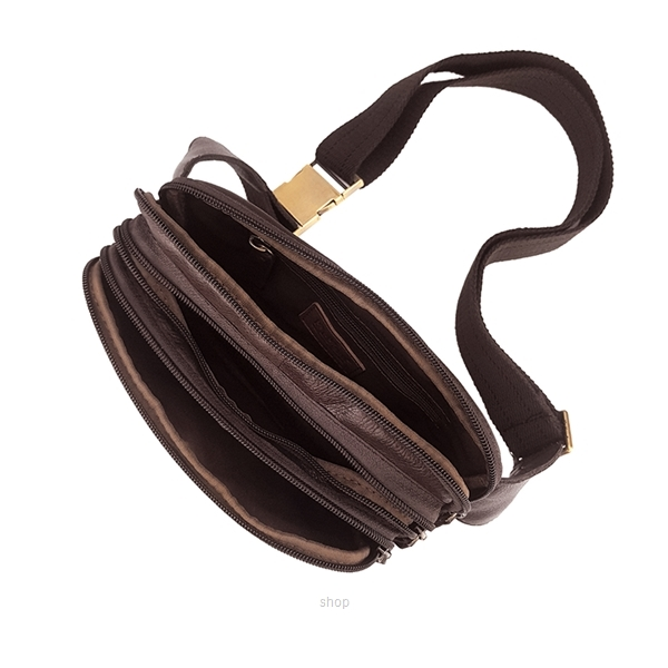 Kickers Genuine Leather Waist Bag with 3 Large Pocket (Brown) - KK02-IC78507S-3