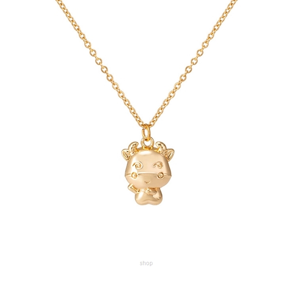 Celovis CNY 2021 - Golden Ox in Cute Pendant Chain Necklace-0