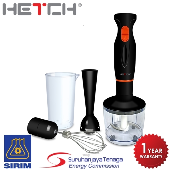 Hetch 3 in 1 Hand Blender Multifunction Set Food Processor HBD-1607-HC-1