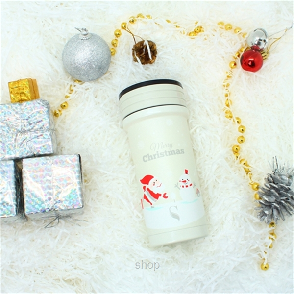 [Christmas Collection] Dashing Through The Snow: SWANZ 350ml Porcelain Tumbler SY-068-0