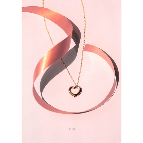 Celovis CNY 2021 - Darling Heart Frame Pendant with Diamond on Rose Gold Chain Necklace-2
