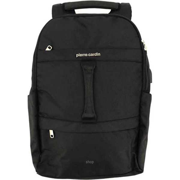Pierre Cardin 18 Inch Laptop Backpack with USB Port Black - 47200280-0