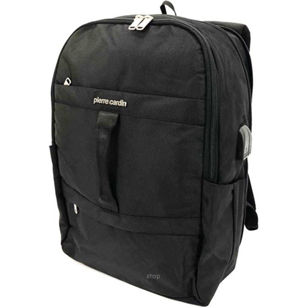 Pierre Cardin 18 Inch Laptop Backpack with USB Port Black - 47200280-1